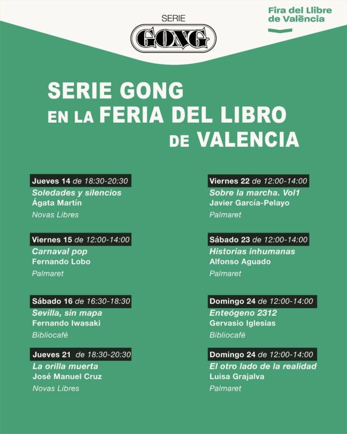 Foto de Cartel de Serie Gong en la Feria del Libro de Valencia
